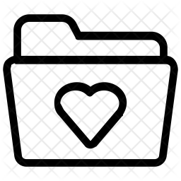 Favourite folder data collection Line Icon
