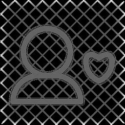 Favourite user Line Icon