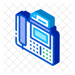 Fax Isometric Icon
