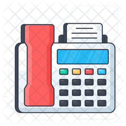 Fax Machine Icon Of Colored Outline Style Available In Svg Png Eps Ai Icon Fonts