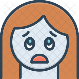 Fear Colored Outline Icon