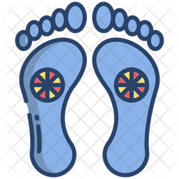Feet Colored Outline Icon
