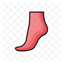 Feet Bath Colored Outline Icon