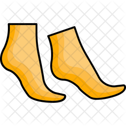 Feet Care Colored Outline Icon