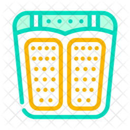 Feet Massager Stimulator Colored Outline Icon