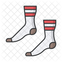 Feet Socks Colored Outline Icon