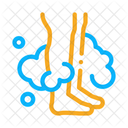 Feet wash Colored Outline Icon