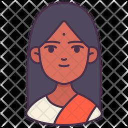 Female Colored Outline Icon