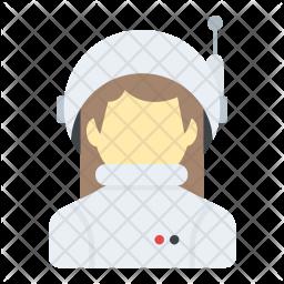 Female Astronaut Icon