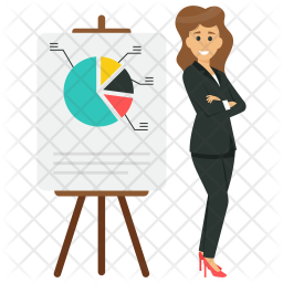 Female Business Analyst Icon