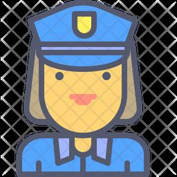 Female cop Icon
