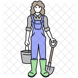 Female Farmer Icon