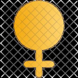 Female Gender Gradient Icon