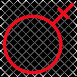 Female Gender Glyph Icon