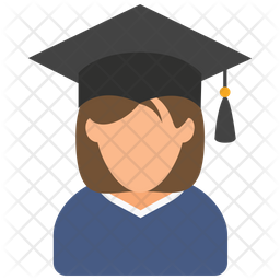 Female graduate student Icon