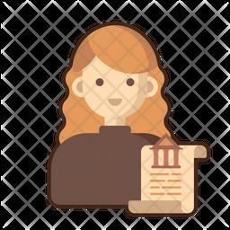 Female Historian Icon