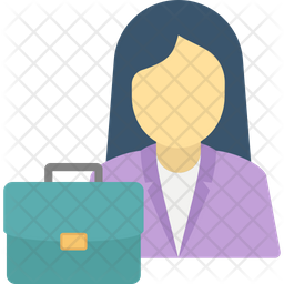 Female Office Worker Icon Of Flat Style Available In Svg Png Eps Ai Icon Fonts