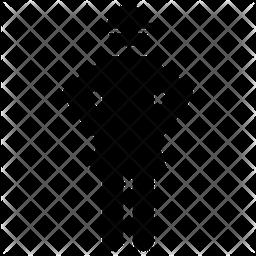 Female Soldier Glyph Icon
