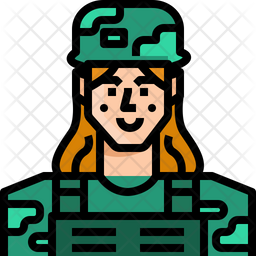 Female Soldier Icon