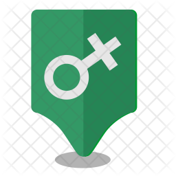 Female, Woman, Location, Map, Pointer Icon