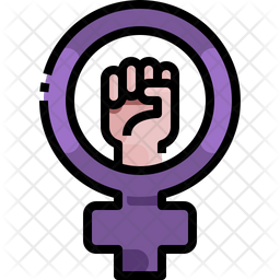 Feminism Colored Outline Icon