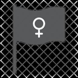 Feminism Flag Dualtone Icon