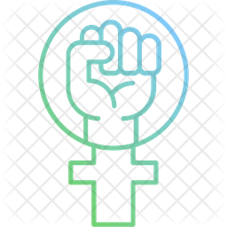Feminism Protest Gradient Icon