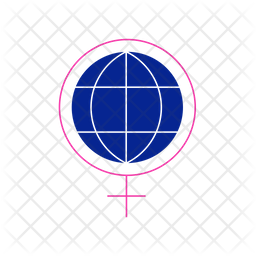 Feminism World Colored Outline Icon