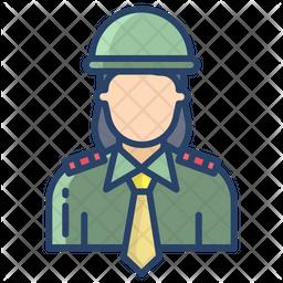 Femle Officer Icon