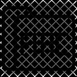 Fiac folder Line Icon
