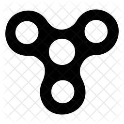 Fidget Spinner Glyph Icon