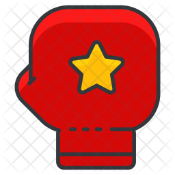 Fight Colored Outline Icon