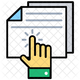 File Access Colored Outline Icon