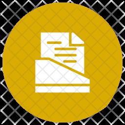 File Holder Glyph Icon