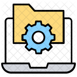 File Management Colored Outline Icon