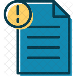 File Notification Colored Outline Icon