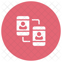 File Sharing Glyph Icon