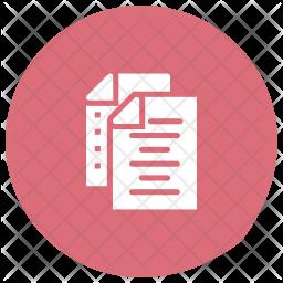 Files Glyph Icon