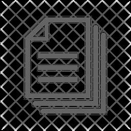 Files Line Icon
