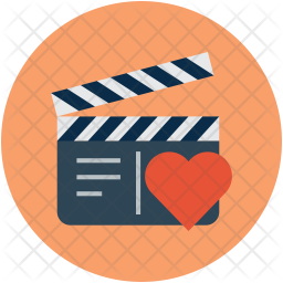 Premium Film Clapper With Heart Icon Download In Svg Png Eps Ai