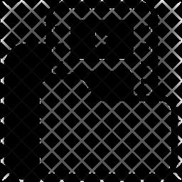Film Folder Glyph Icon