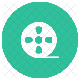 Film Reel Glyph Icon