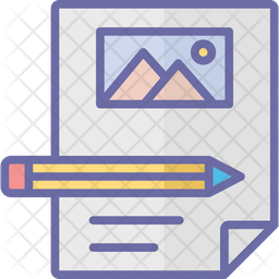 Film Storyboard Colored Outline Icon