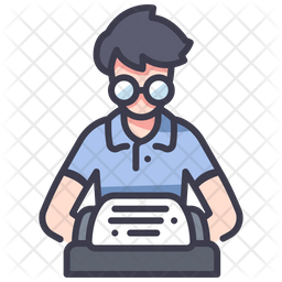 Film Writer Colored Outline Icon