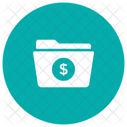 Finance Folder Glyph Icon
