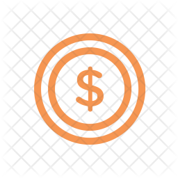 Finance, Line, Money, Currency, Business, Coin, Dollar Icon