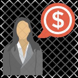 Financial Advisor Flat Icon