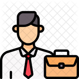 Financial Consultant Colored Outline Icon