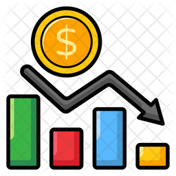 Financial Decrease Icon