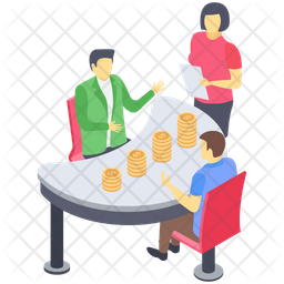 Financial Table Talk Icon